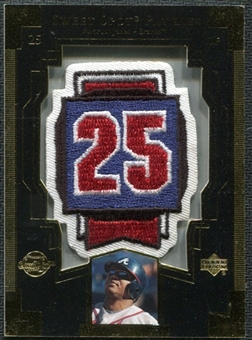 2003 Upper Deck Sweet Spot Patches #AJ1 Andruw Jones