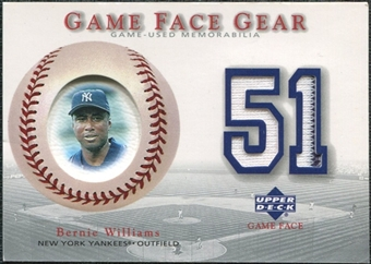 2003 Upper Deck Game Face Gear #BW Bernie Williams