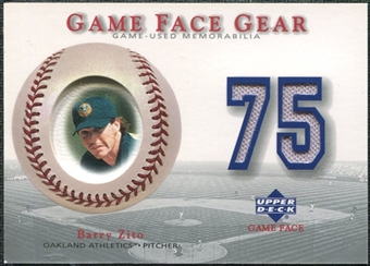 2003 Upper Deck Game Face Gear #BZ2 Barry Zito Away