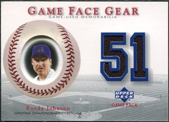 2003 Upper Deck Game Face Gear #RJ Randy Johnson