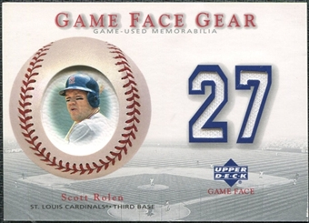 2003 Upper Deck Game Face Gear #SR Scott Rolen