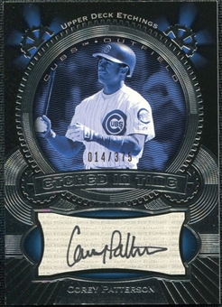 2004 Upper Deck Etchings Etched in Time Autograph Black #CP Corey Patterson /375
