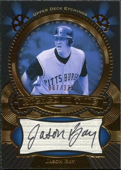 2004 Upper Deck Etchings Etched in Time Autograph Black #JB Jason Bay /375