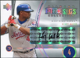 2004 Upper Deck UD Diamond Pro Sigs #182 Henry Mateo Autograph