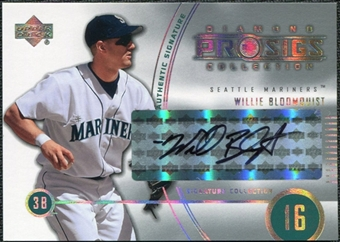 2004 Upper Deck UD Diamond Pro Sigs #239 Willie Bloomquist Autograph