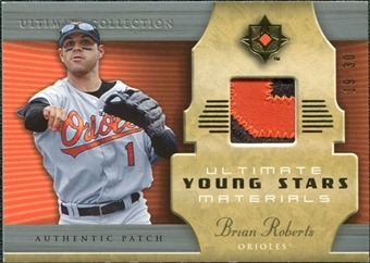 2005 Upper Deck Ultimate Collection Young Stars Materials Patch #BR Brian Roberts /30