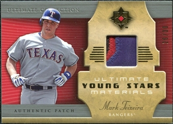 2005 Upper Deck Ultimate Collection Young Stars Materials Patch #MT Mark Teixeira /30