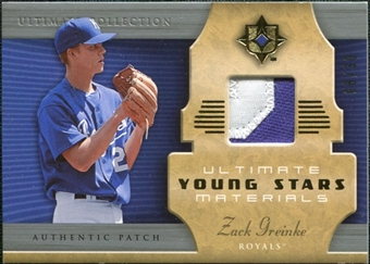 2005 Upper Deck Ultimate Collection Young Stars Materials Patch #ZG Zack Greinke /30