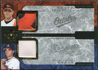 2005 Upper Deck Ultimate Collection Dual Materials Patch #RG Brian Roberts Marcus Giles 2/10