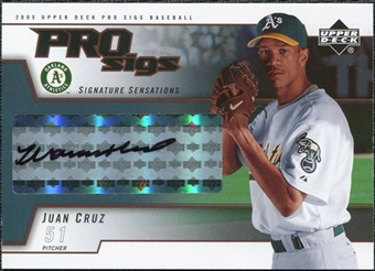 2005 Upper Deck Pro Sigs Signature Sensations #JC Juan Cruz T3 Autograph
