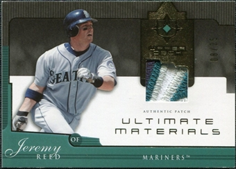 2005 Upper Deck Ultimate Collection Materials Patch #JR Jeremy Reed /25