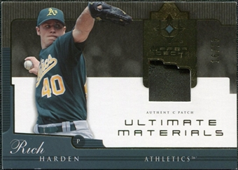 2005 Upper Deck Ultimate Collection Materials Patch #RH Rich Harden /25