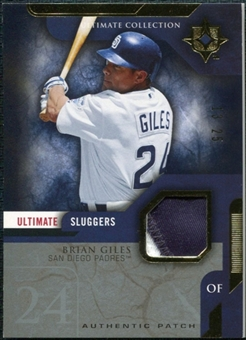 2005 Upper Deck Ultimate Collection Sluggers Patch #BG Brian Giles /25