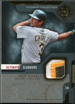2005 Upper Deck Ultimate Collection Sluggers Patch #EC Eric Chavez /25