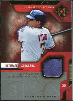 2005 Upper Deck Ultimate Collection Sluggers Patch #JV Jose Vidro /25