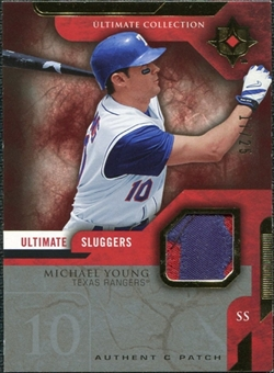 2005 Upper Deck Ultimate Collection Sluggers Patch #MY Michael Young /25