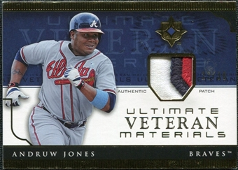 2005 Upper Deck Ultimate Collection Veteran Materials Patch #AJ Andruw Jones /30