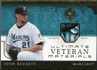 2005 Upper Deck Ultimate Collection Veteran Materials Patch #BE Josh Beckett 13/30