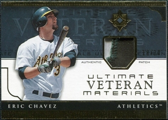 2005 Upper Deck Ultimate Collection Veteran Materials Patch #EC Eric Chavez /30
