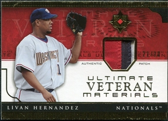 2005 Upper Deck Ultimate Collection Veteran Materials Patch #LH Livan Hernandez /30