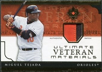 2005 Upper Deck Ultimate Collection Veteran Materials Patch #MT Miguel Tejada /30