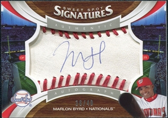 2006 Upper Deck Sweet Spot Signatures Red Stitch Blue Ink #179 Marlon Byrd /40