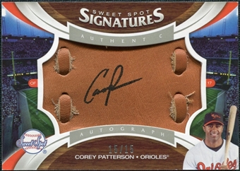 2006 Upper Deck Sweet Spot Signatures Glove Leather Black Ink #133 Corey Patterson /15