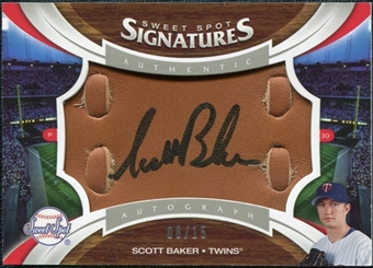 2006 Upper Deck Sweet Spot Signatures Glove Leather Black Ink #140 Scott Baker 8/15