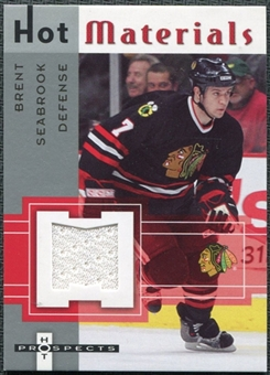 2005/06 Fleer Hot Prospects Hot Materials #HMBS Brent Seabrook