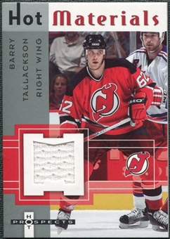 2005/06 Fleer Hot Prospects Hot Materials #HMBT Barry Tallackson