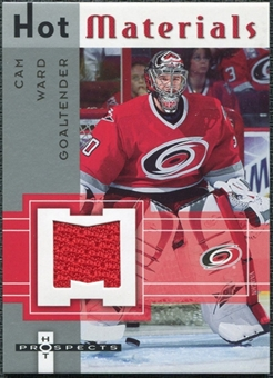 2005/06 Fleer Hot Prospects Hot Materials #HMCW Cam Ward