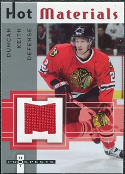 2005/06 Fleer Hot Prospects Hot Materials #HMDK Duncan Keith