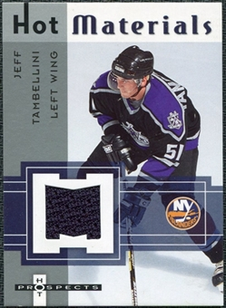2005/06 Fleer Hot Prospects Hot Materials #HMJT Jeff Tambellini