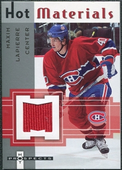 2005/06 Fleer Hot Prospects Hot Materials #HMML Maxim Lapierre