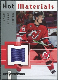 2005/06 Fleer Hot Prospects Hot Materials #HMZP Zach Parise
