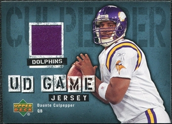 2006 Upper Deck Game Jerseys #GJDC Daunte Culpepper