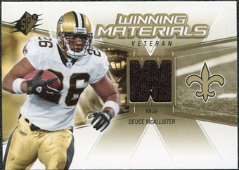 2006 Upper Deck SPx Winning Materials #WMVDM Deuce McAllister