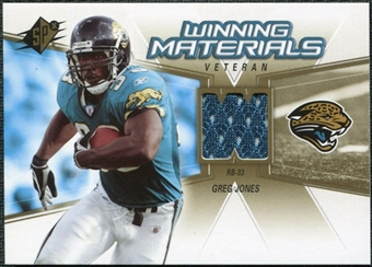 2006 Upper Deck SPx Winning Materials #WMVGJ Greg Jones