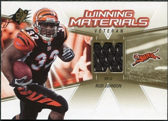 2006 Upper Deck SPx Winning Materials #WMVRJ Rudi Johnson