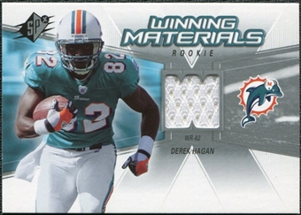 2006 Upper Deck SPx Rookie Winning Materials #WMRDH Derek Hagan