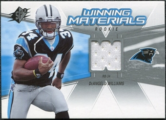 2006 Upper Deck SPx Rookie Winning Materials #WMRDW DeAngelo Williams