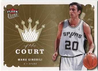 2006/07 Fleer Ultra Kings of the Court #KKMG Manu Ginobili