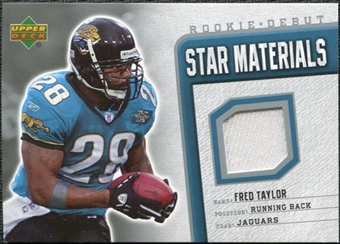 2006 Upper Deck Rookie Debut Star Materials Silver #SMFT Fred Taylor