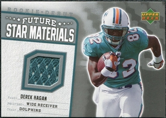 2006 Upper Deck Rookie Debut Future Star Materials Silver #FSMDH Derek Hagan