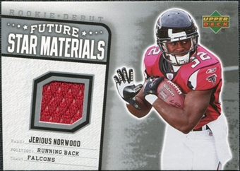 2006 Upper Deck Rookie Debut Future Star Materials Silver #FSMJN Jerious Norwood