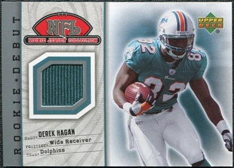 2006 Upper Deck Rookie Debut Jersey #69TE Derek Hagan