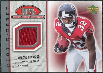 2006 Upper Deck Rookie Debut Jersey #73TE Jerious Norwood