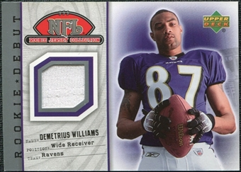 2006 Upper Deck Rookie Debut Rookie Jerseys #93TE  Demetrius Williams