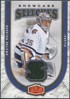 2006/07 Fleer Flair Showcase Stitches #SSDR Dwayne Roloson
