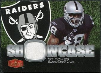 2006 Upper Deck Flair Showcase Stitches Jersey Randy Moss #SHSRM